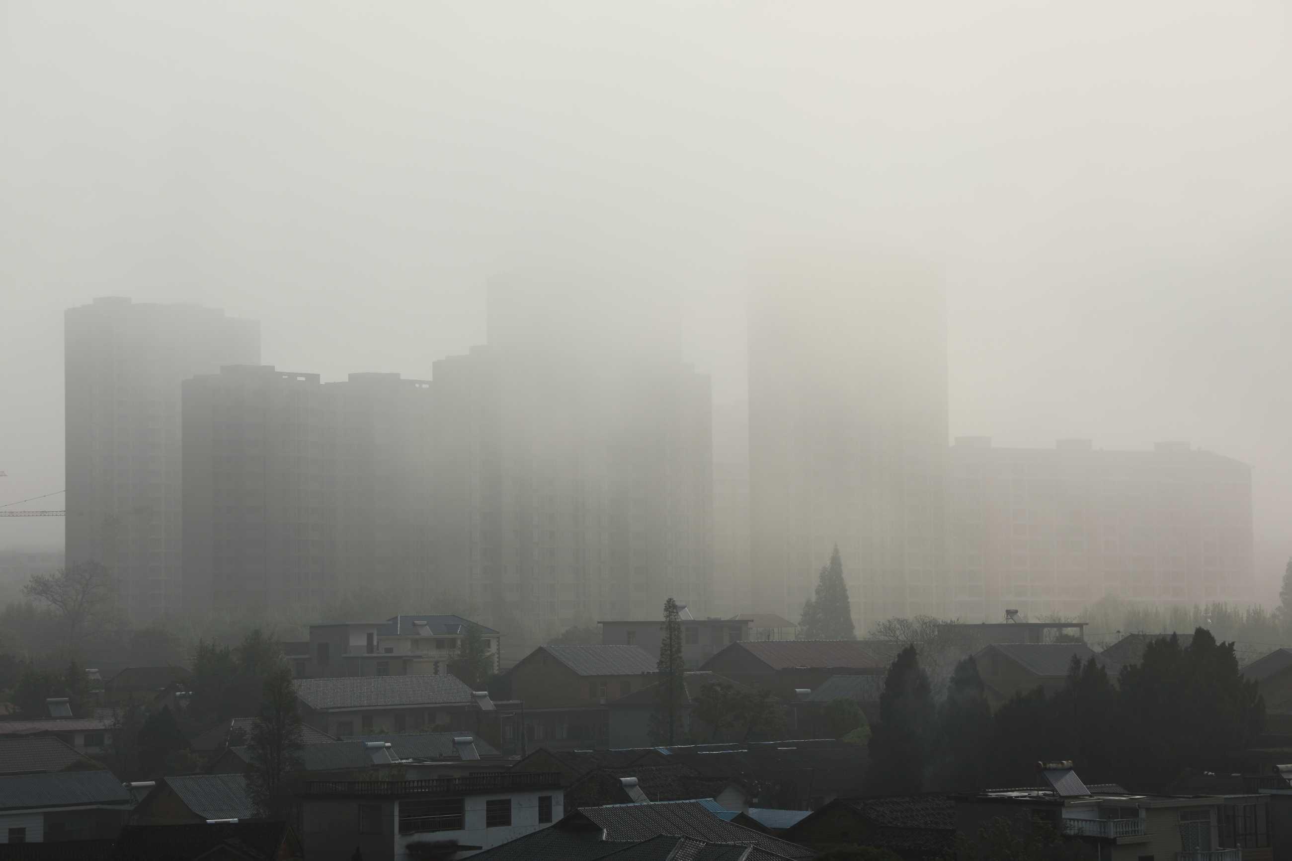 雾中安置楼房